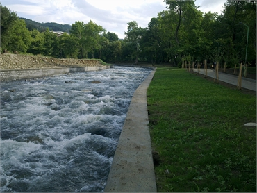 Correction of the Sandanska Bistritsa River, city of Sandansky